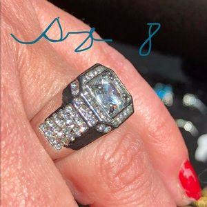 Other - Men's White Gold Filled wWedding Ring